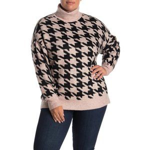 Vince Camuto Houndsooth Turtleneck Sweater NWT
